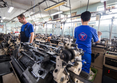 Производитель-рабочих-перчаток, производственный-цех