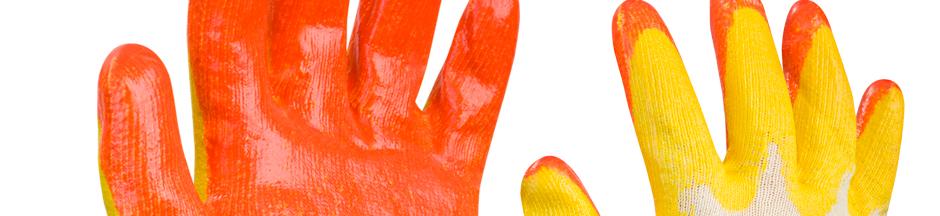 Рабочие перчатки с латексным обливом